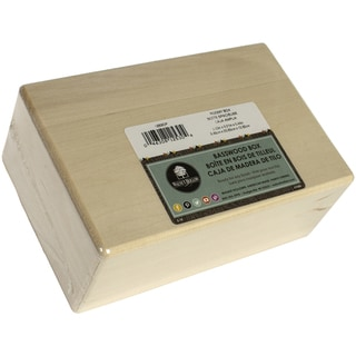 Basswood Hinged Box8.25inX3.25inX5.38in