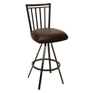 Aidan 26' Transitional Barstool In Coffee Leatherette