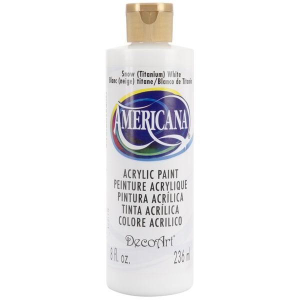 Americana Acrylic Paint 8ozSnow White