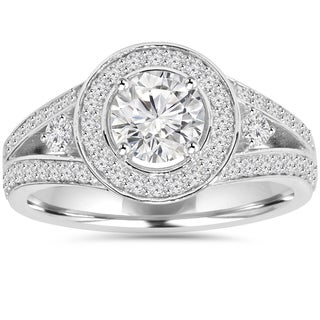 Eco-Friendly 14k White Gold 1.55 ct TDW Lab-Grown Diamond Wedding Ring (H-I, VS2)