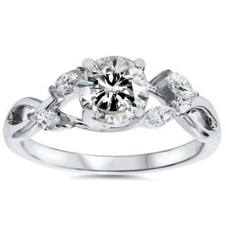 Bliss 14k White Gold 1.32 ct TDW Lab-Grown Diamond Vintage Ring (H-I, VS1-VS2)