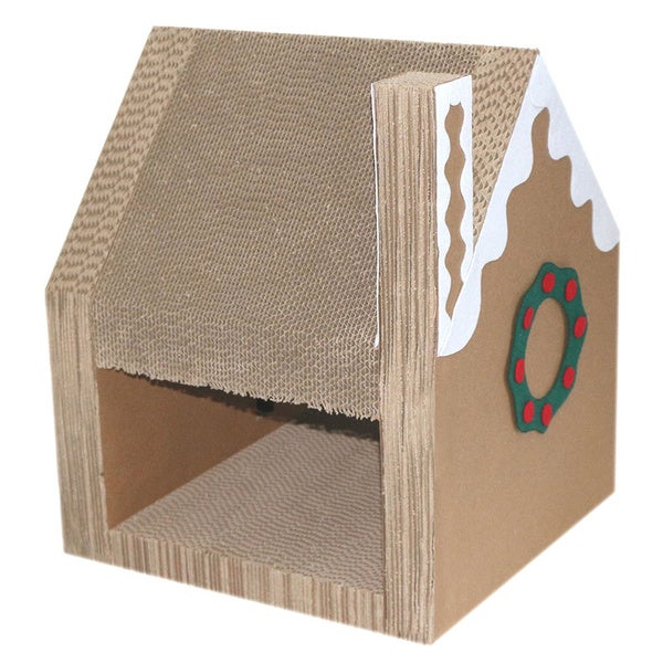 Christmas Cathouse and Cat Scratcher Lounger