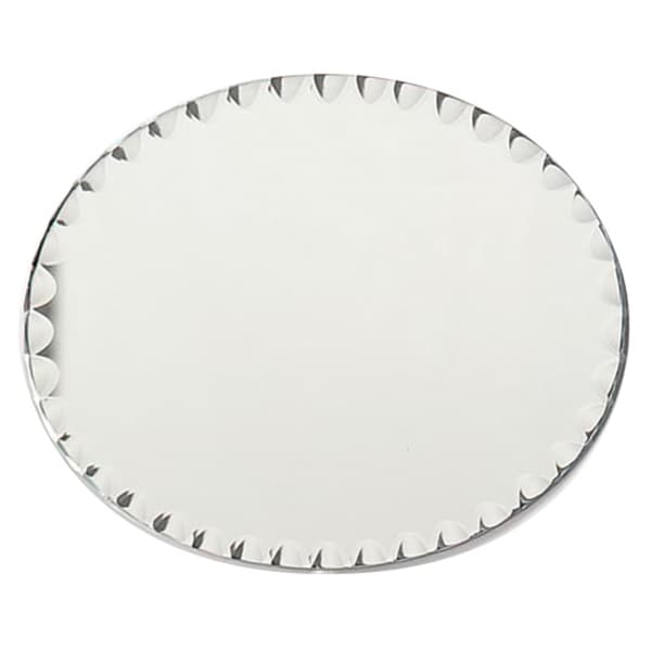 Oval Glass Mirror W/Scallop Edge Bulk8inX10in