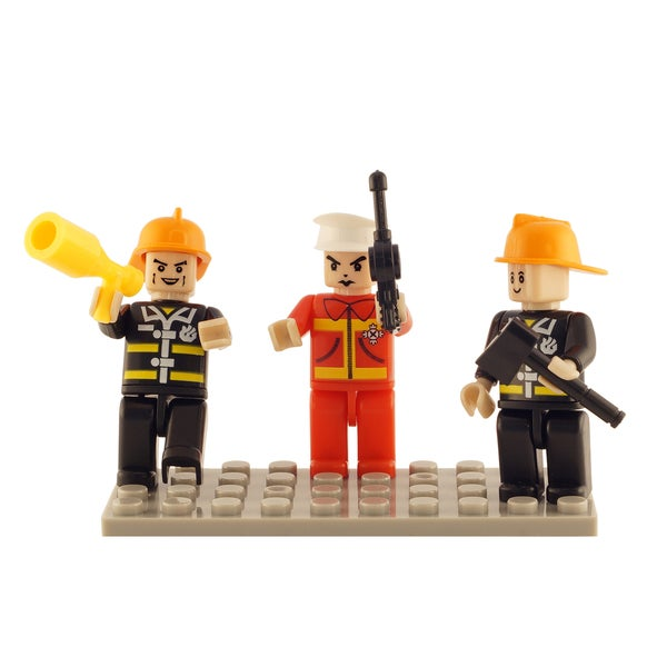 Brictek Fire Brigade 3 Mini-Figurine Set
