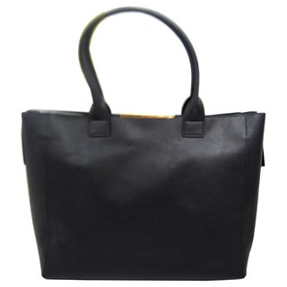 BCBG Max Azria Carly Leather Tote - Black