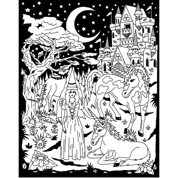 ColorIn Velvet Poster 16inX20inCastle