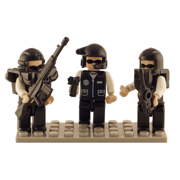 Brictek Police Swat Team 3 Mini-Figurine Set