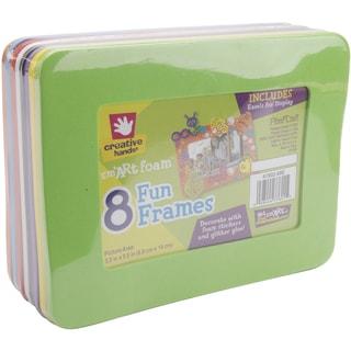 Foam Frames 6.125inX8in W/3.5inX5.5in Opening 8/PkgAssorted Colors