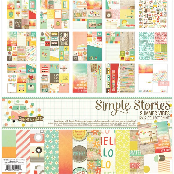 Simple Stories Collection Kit 12inX12inSummer Vibes