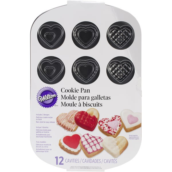 Small Heart Cookie Pan12 Cavity 11.5inX7.56in