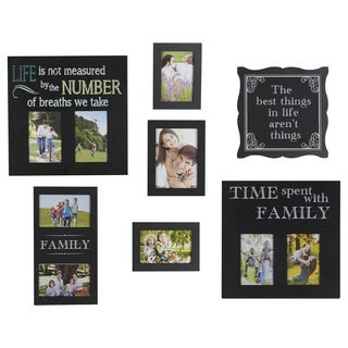 Melannco Set of 7 Family Sentiment Collages with 9 Openings