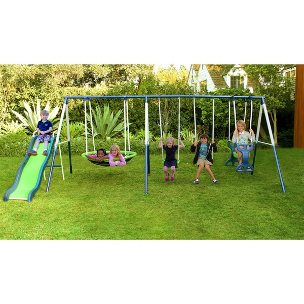 Sporstpower Rosemead Metal Swing Set