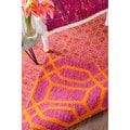 nuLOOM Handmade Geometric Trellis Wool Pink Reversible Rug (7'6 x 9'6)