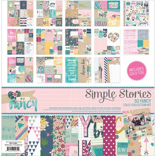 Simple Stories Collection Kit 12inX12inSo Fancy
