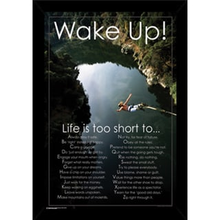 Wake Up Poster (24-inches x 36-inches) with Contemporary Poster Frame