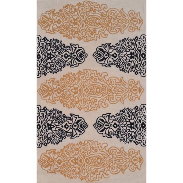 Handmade Wool Versailles Rug (5' x 8')