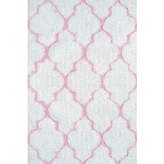 Handmade Polyester Clouds Pink Rug (4.7' x 7.7')