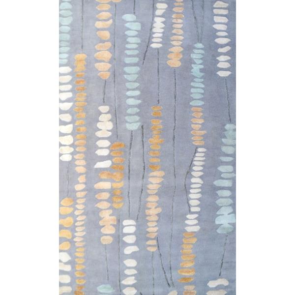 Handmade Wool Palmdale Grey Rug (5' x 8')