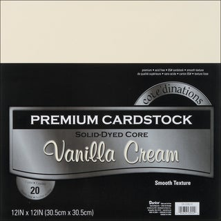 Core'dinations Value Pack Cardstock 12inX12in 20/PkgVanilla Cream Smooth