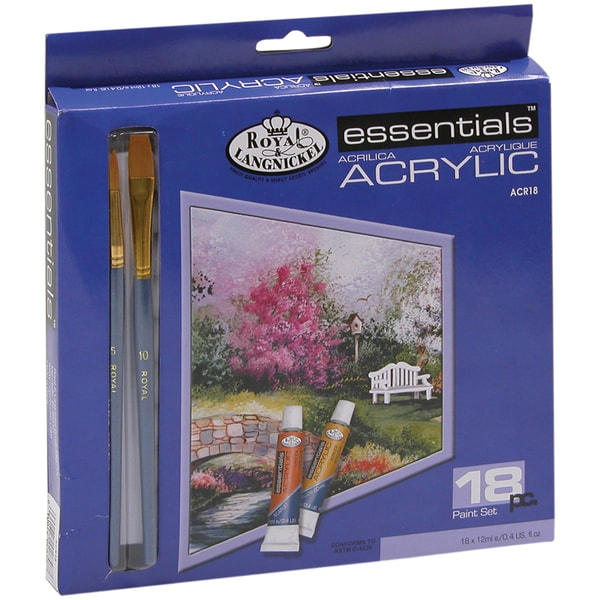 Essentials Acrylic Paints 12ml 18/PkgAssorted Colors
