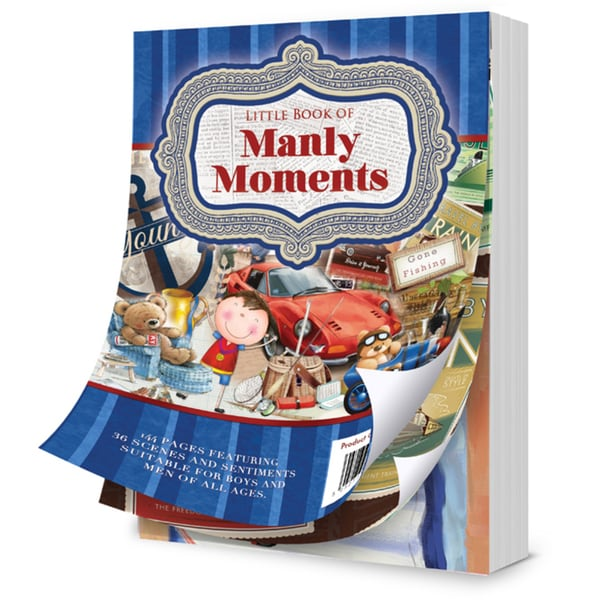 Hunkydory A6 Paper Pad 20/PkgThe Little Book Of Manly Moments