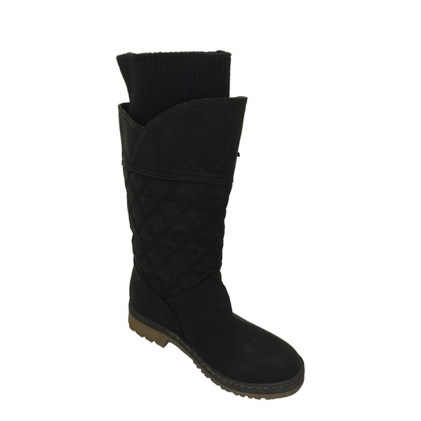 Women's Suede Quilted Boots