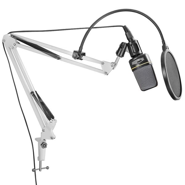 Dragonpad White Microphone Scissor Arm Stand
