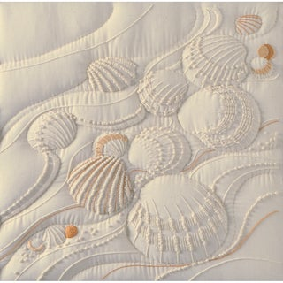 Ocean's Edge Candlewicking Embroidery Kit14inX14in Stitched In Thread