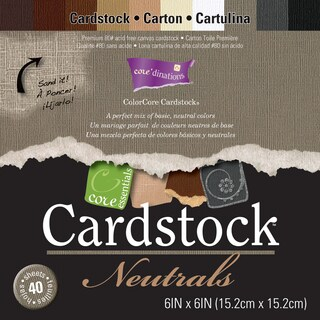 Core'dinations Core Essentials Cardstock Pad 6inX6in 40/PkgNeutrals