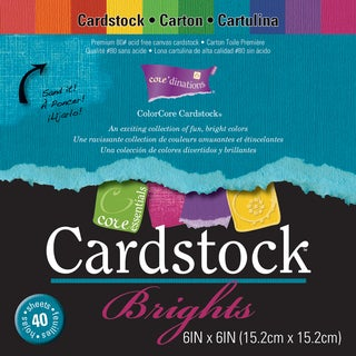 Core'dinations Core Essentials Cardstock Pad 6inX6in 40/PkgBrights