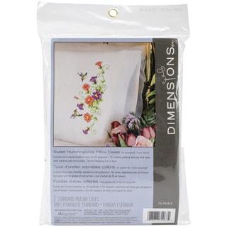 Stamped Cross Stitch Pillowcase Pair 20inX30inHummingbirds