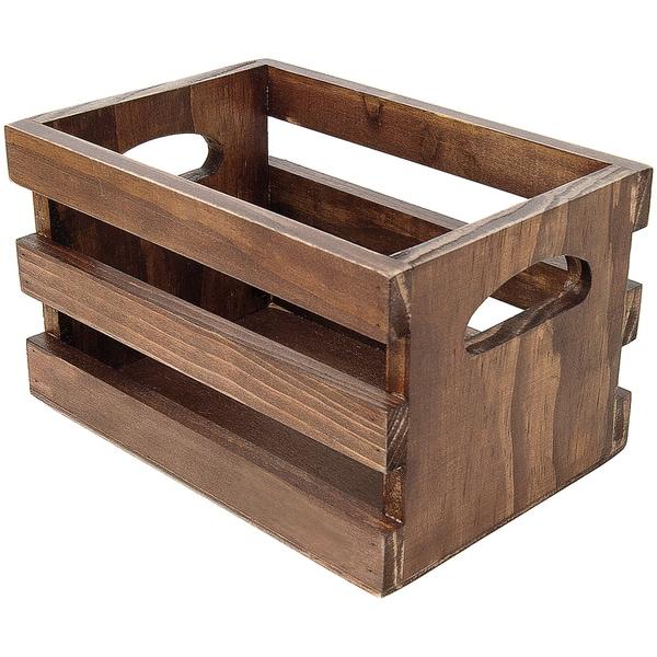 Wooden Photo Crate 4inX6inX4inDark Stain
