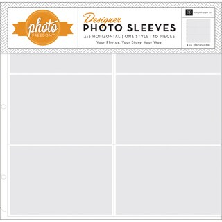 Photo Freedom Photo Sleeves Protectors 12inX12in 10/Pkg(6) 4inX6in Pockets