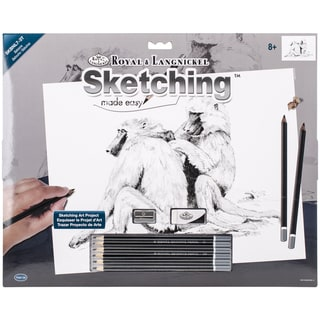 Sketching Made Easy Large Kit 16inX12.75inBaboons