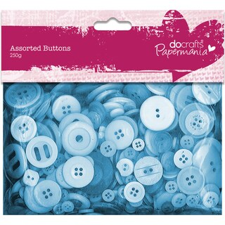 Papermania Buttons Assorted 250gBlue
