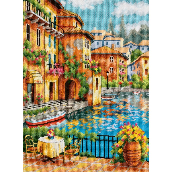 Cafe On The Canal Needlepoint Kit11inX14in Stitched In Thread 16228453