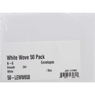 Leader A6 Envelopes (4.75inX6.5in) 50/PkgWhite