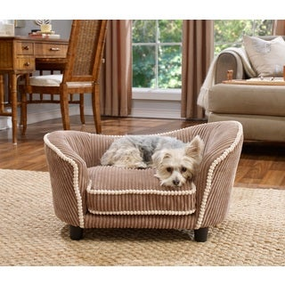 Teddy Mocha Corduroy Snuggle Pet Bed