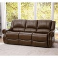 ABBYSON LIVING Calabasas Mesa Camel Reclining Leather Sofa