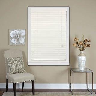 White 2-Inch Real Wood Horizontal Venetian Blinds