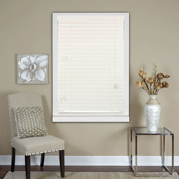 White 2-Inch Real Wood Horizontal Venetian Blinds