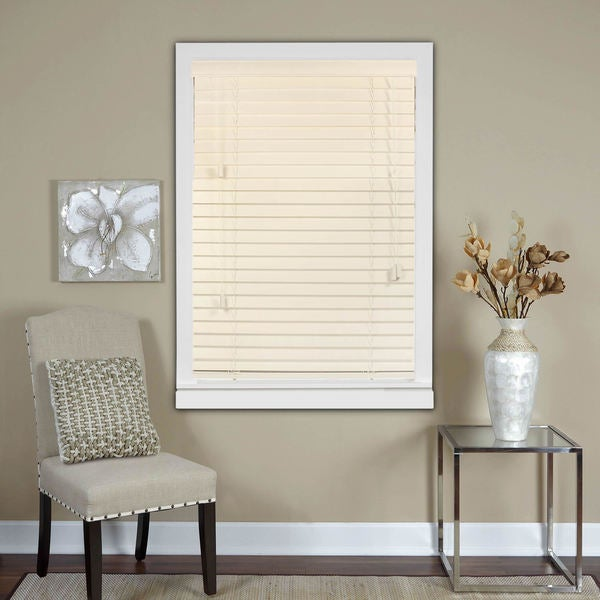 Oyster White 2-Inch Real Wood Horizontal Venetian Blinds