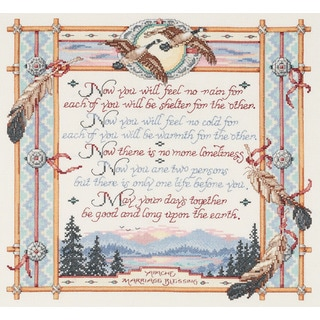 Apache Wedding Blessing Counted Cross Stitch Kit15inX14in 14 Count
