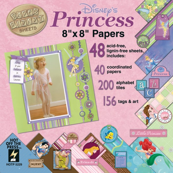 Paper Pizazz Paper & Accents 8inX8inPrincess