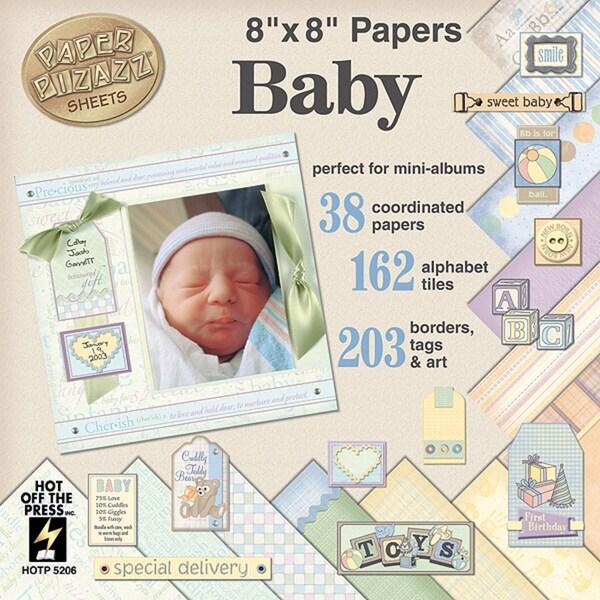 Paper Pizazz Paper & Accents 8inX8inBaby