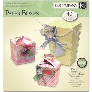 K&CO Paper Crafting PadFormal Cardstock Boxes, Makes 40