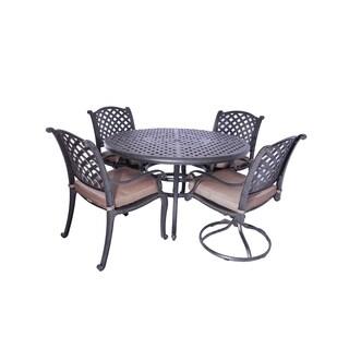 GatherCraft Casa Grande Bronze Outdoor Cast Aluminum 5-Piece Dining Set
