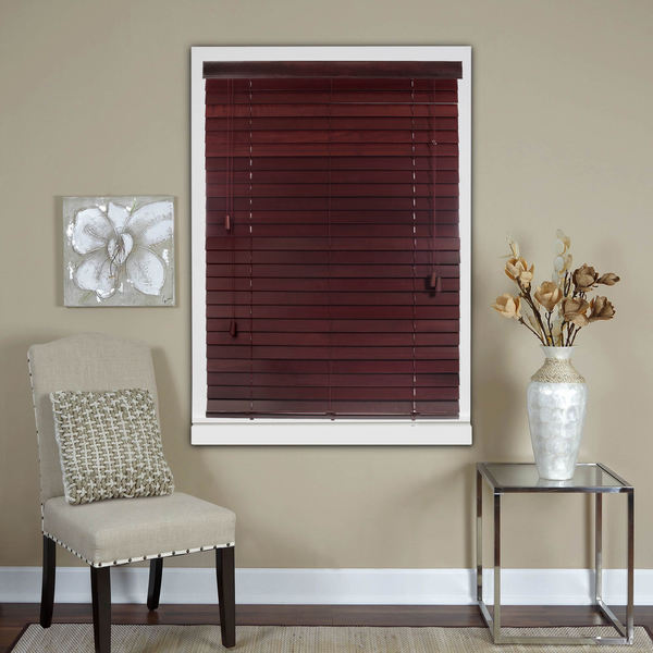 Mahogany 2-Inch Real Wood Horizontal Venetian Blinds