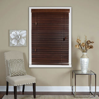 Chestnut 2-Inch Real Wood Horizontal Venetian Blinds