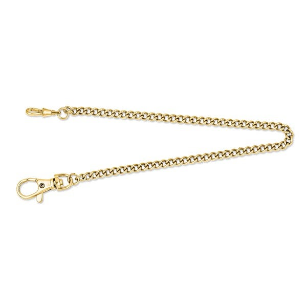 Charles Hubert IP-plated Stainless 14.5in Pocket Watch Chain